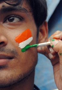 Indian Flag Face